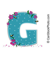 Alphabet Garden Buzz G - The letter G, in the alphabet set...