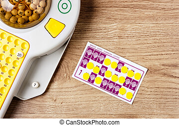 Bingo Game - Electronic bingo game with cards and chips to...