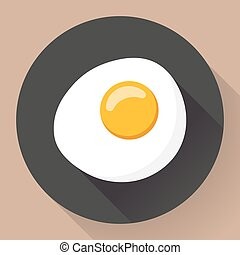 Vector illustration of omelette Flat designed style icon