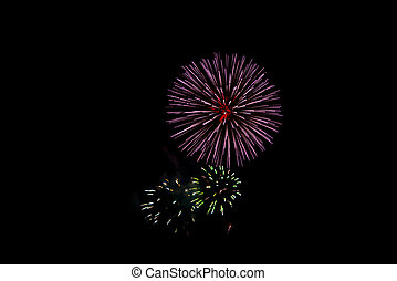 Fireworks abstract background