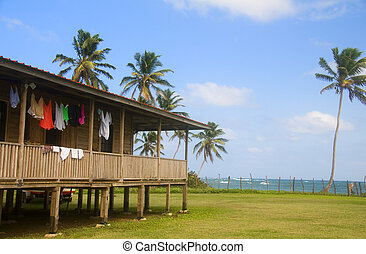 house on caribbean sea corn island nicaragua - house with...