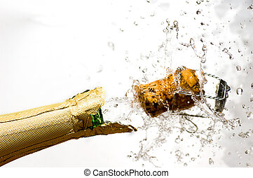Champagne explosion