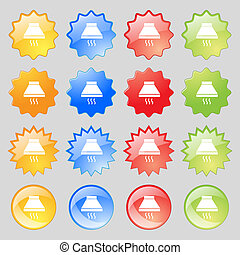 Kitchen hood icon sign Big set of 16 colorful modern buttons...