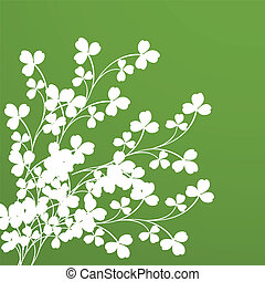 Clover foliage Background for design