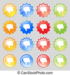Dislike, Thumb down, Hand finger down icon sign Set from...