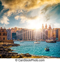 view on Marsamxett Harbour and Valletta - picturesque view...