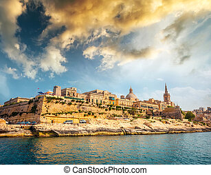 view on Valletta from the sea - view on Valletta with its...