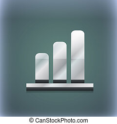 Growth and development concept. graph of Rate icon symbol. 3D style. Trendy, modern design with space for your text . Raster