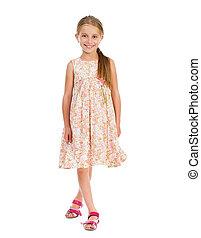 beautiful little girl in dress