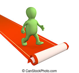 Red carpet - Conceptual 3d image - red carpet
