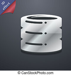 hard disk icon symbol 3D style Trendy, modern design with...