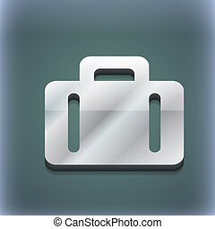 suitcase icon symbol. 3D style. Trendy, modern design with...