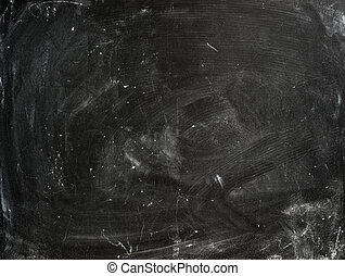 Chalk rubbed out on blackboard - Chalk rubbed out on old...