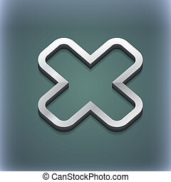 Cancel icon symbol 3D style Trendy, modern design with space...