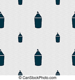 Pencil sign icon Edit content button Seamless pattern with...