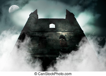 Old Haunted Castle - Spooky Is The Chilling Scene During A...