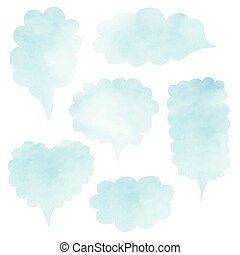 Clouds set Blank template quote set Template vector set...