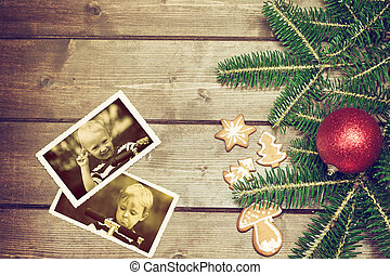 Two vintage photos with feelings of two boys - Vintage...