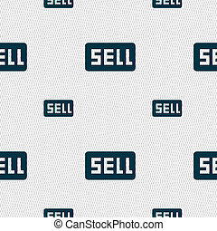 Sell, Contributor earnings icon sign Seamless pattern with...