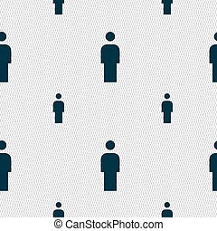 Human, Man Person, Male toilet icon sign Seamless pattern...
