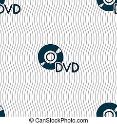 dvd icon sign. Seamless pattern with geometric texture.