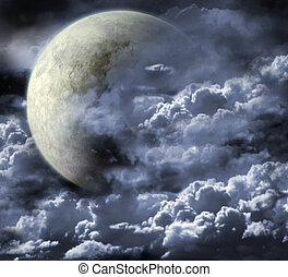 Moon - Illustration - a fantastic beautiful moon
