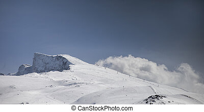 sierra nevada - view of mountains and clouds in the sierra...