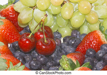 Fruit mix, close, very colorful