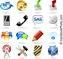 Communication icons - Communication and internet icons set...