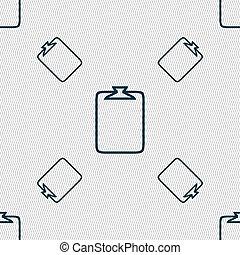 File annex icon Paper clip symbol Attach sign Seamless...