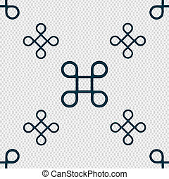 Keyboard Maestro icon Seamless pattern with geometric...