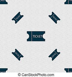 パターン, 印,  seamless, 手ざわり, 幾何学的, 切符, アイコン