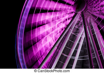 Motion Picture - A Purple Ferris Wheel Is The Star Of A...