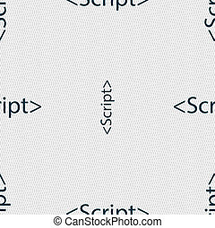 Script sign icon Javascript code symbol Seamless abstract...