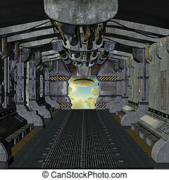 space station in 3d