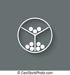 lottery machine symbol vector illustration - eps 10