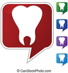 Tooth Icon - Tooth icon isolated on a white background.