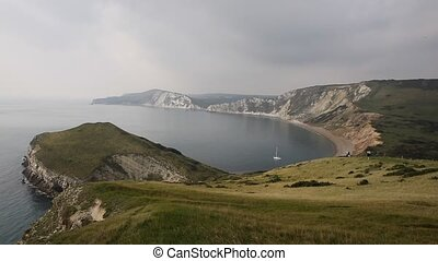 Worbarrow Bay east of Lulworth Cove and near Tyneham on the...
