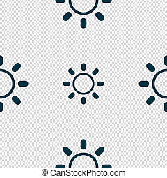 Brightness icon sign Seamless abstract background with...