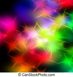 sparkles - rainbow sparkles on a solid black background