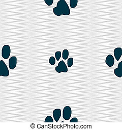 trace dogs icon sign Seamless pattern with geometric texture...