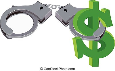 handcuffs and Currency - handcuffs of the type block...