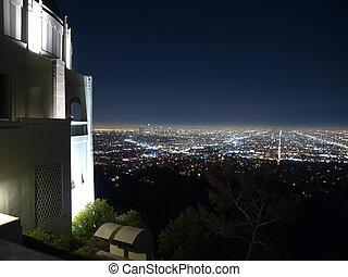 Hollywood at Night - Hollywood at night from Los Angeles...