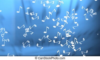 Music Notes Background with Alpha - Stock CGI 1080i Video...