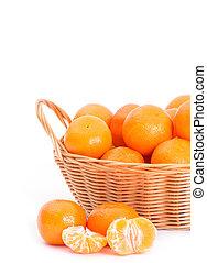 Mandarine on white