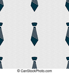 Tie sign icon Business clothes symbol Seamless abstract...