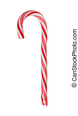 Big candy cane isolated with path - Traditional candy cane...