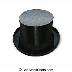 Magician hat - Magic hat isolated on white with clipping...