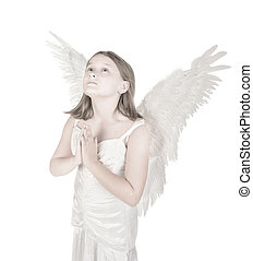 little angel girl - high key little angel fairy girl praying