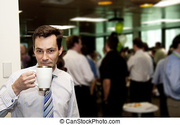 Conference Coffee Break - A Business Man Gets A Wake Me Up...